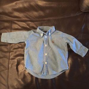 Ralph Lauren denim buttoned shirt 3/6 months
